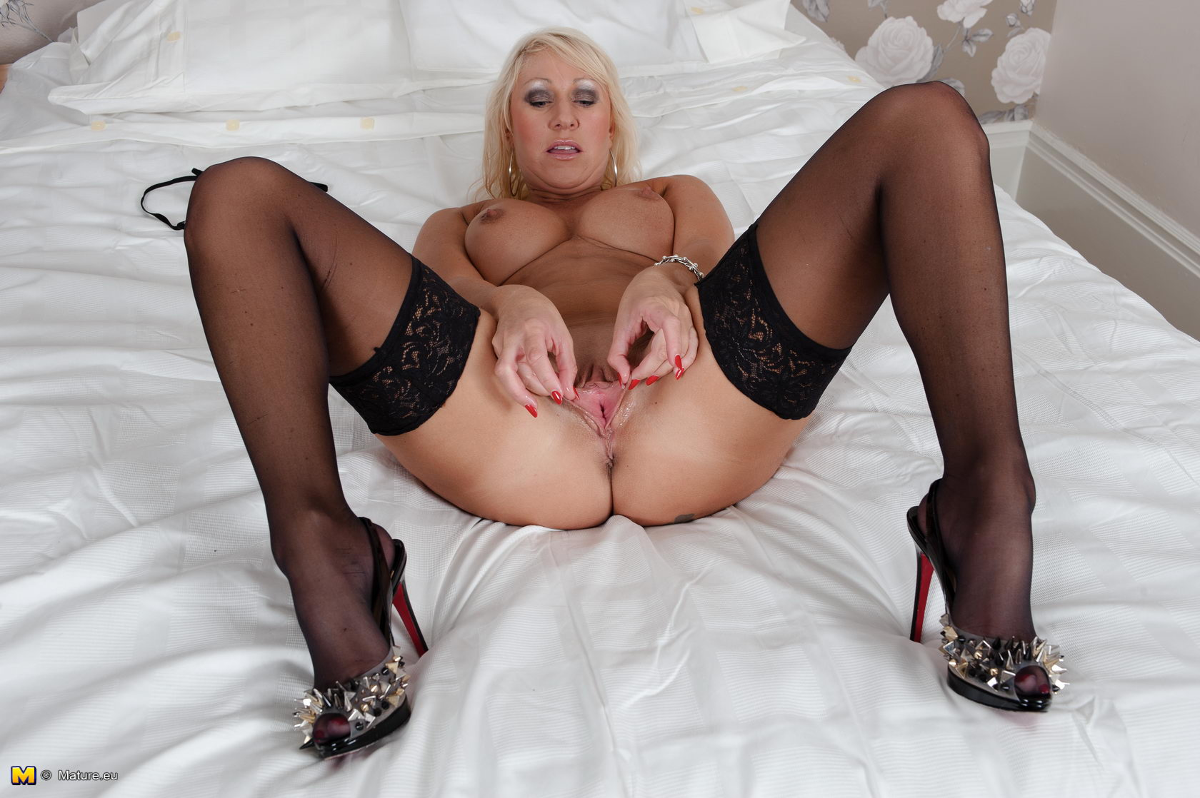 black stockings Milf